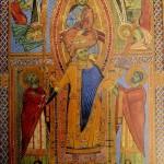 Krönung Heinrich des II. Ein Engel übergibt ihm die Heilige Lanze
